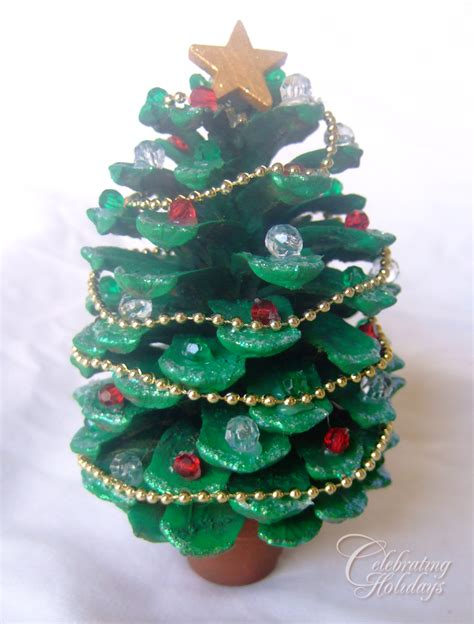 pinecone christmas tree craft home decorating interior