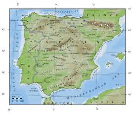 Map If Spain by Spain Physical Map Imsa Kolese