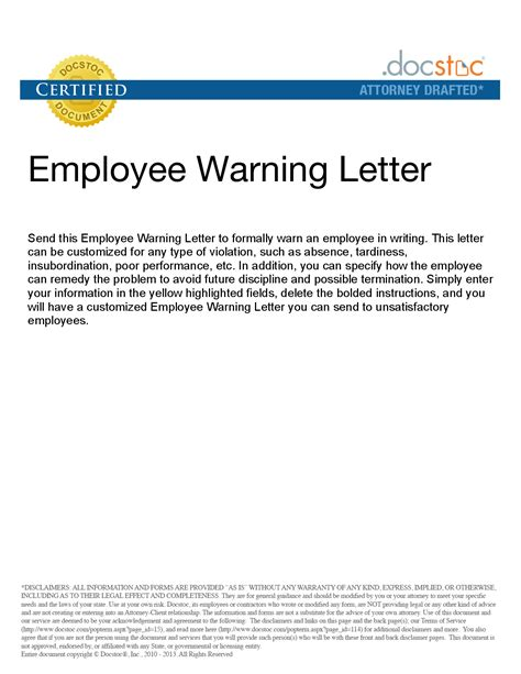 sle warning letter for not submitting report absence