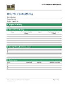 Church Minutes Template by 10 Best Images Of Church Meeting Minutes Sle Church