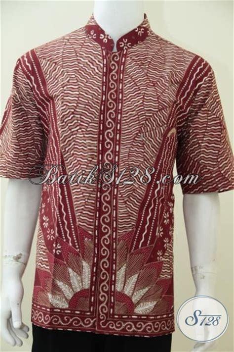 Kemeja Batik Pria Kerah Sanghai kemeja batik tulis kerah shanghai trend busana muslim saat ini baju koko batik lengan pendek
