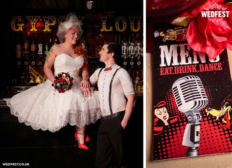 rockabilly themed wedding stationery wedfest