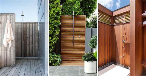 out door shower 10 excellent exles of outdoor shower designs contemporist