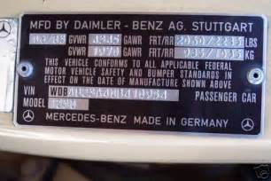 Mercedes Parts By Vin Number Can Anyone Decode This Vin Number For Me Thanks