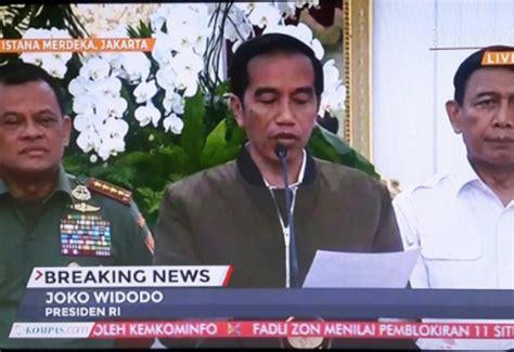 Harga Jaket Bomber Jokowi Merk Zara heboh jaket bomber presiden jokowi jadi sorotan netizen