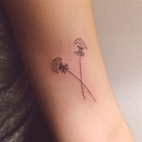 dandelion tattoo on wrist small dandelion for creativefan