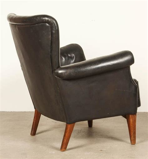 black leather armchairs black leather armchair by finn juhl at 1stdibs
