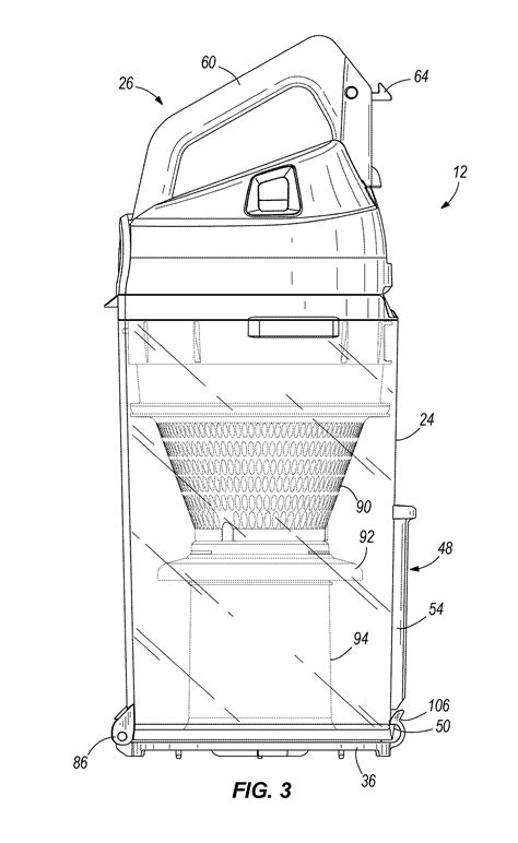 cross sectional area of tube patent us20120047682 vacuum cleaner with exhaust tube