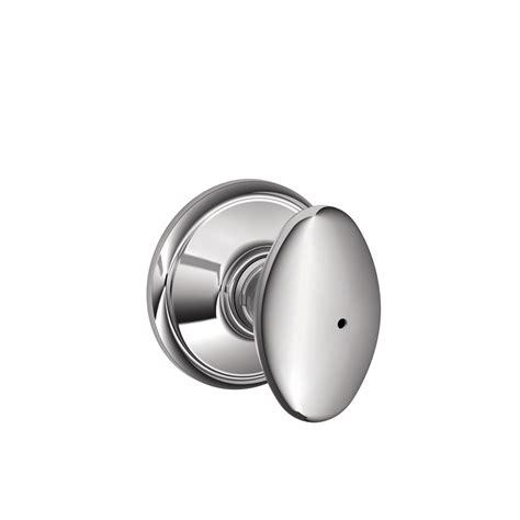 Push Lock Door Knobs by Shop Schlage F Siena Bright Chrome Egg Push Button Lock