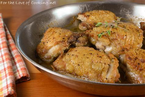 pan roasted chicken thighs for the love of cooking