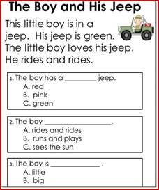 kindergarten reading comprehension activities scalien