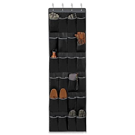 door shoe organizer studio 3b over the door 24 pocket shoe organizer www bedbathandbeyond ca