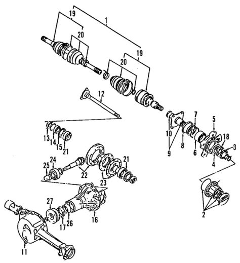 2002 chevy tracker rear brake diagram front axle parts for 2002 chevrolet tracker