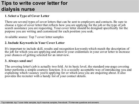 Dialysis Cover Letter by Dialysis Cover Letter