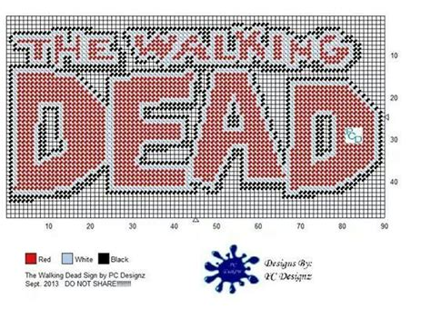 free patterns in plastic canvas to print free printable plastic canvas patterns walking dead