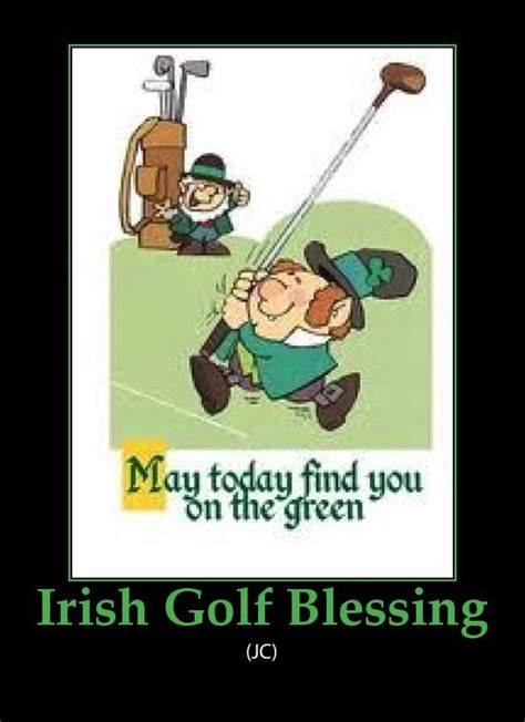 st patricks day draws   irish golf blessing