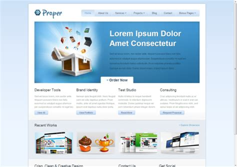 templates for website in html5 and css3 free html5 css3 html5 template proper