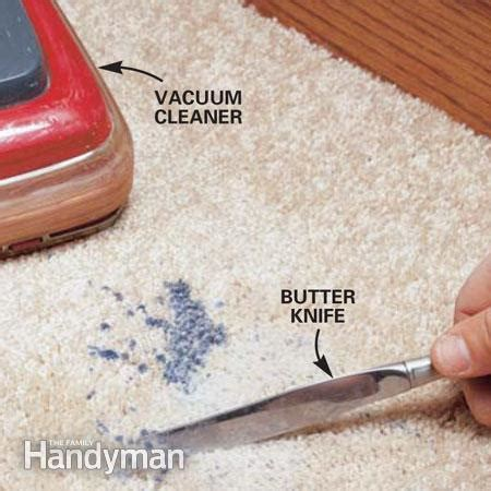 remove wax from rug how to remove wax from a carpet the family handyman