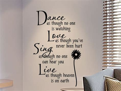 bedroom quotes wall decals for teens girls bedroom wall decal dance as