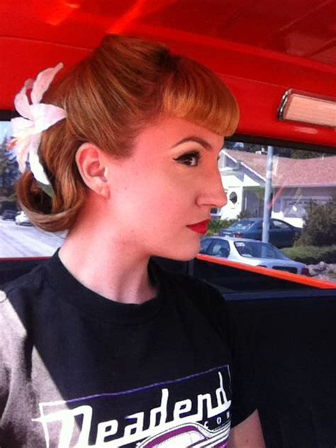 rockabilly hairstyles no bangs rockabilly hair with bettie bangs pinup pinterest