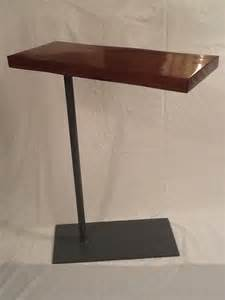 Side table laptop bedside swivel table steelwood design this is