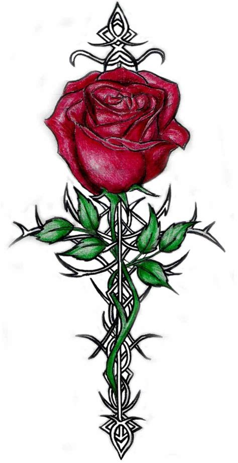 hearts and flowers tattoo designs clipart best