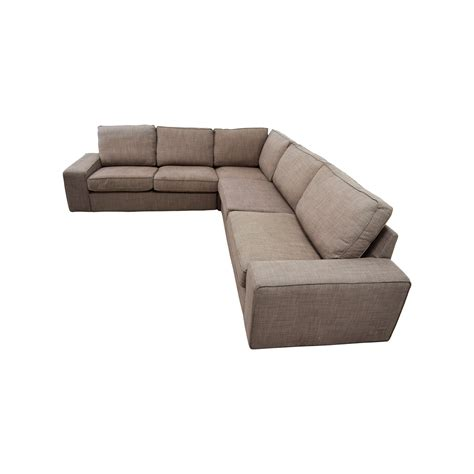 57% OFF   IKEA IKEA KIVIK Brown Sectional / Sofas