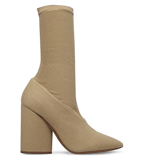 sock high heel boots yeezy season 4 heeled sock boots selfridges