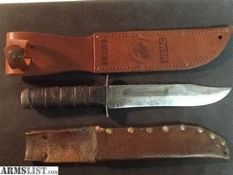 usmc kabar knife for sale armslist for sale vintage usmc kabar knife with 2 sheathes