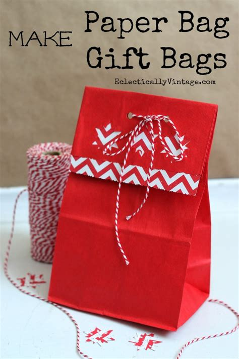 Make Paper Gift Bags - how to make gift bags out of brown paper bags