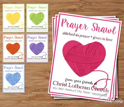 prayer shawl card template flat cards yarn collection