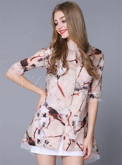 Sleeve Print Blouse half sleeve print blouse ezpopsy
