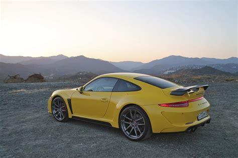 porsche yellow yellow porsche 911 stinger by topcar hits marbella