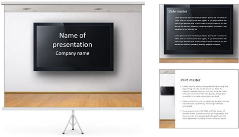 Tv Screen Powerpoint Template Backgrounds Id 0000006732 Smiletemplates Com Tv Powerpoint Template