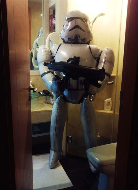 stormtrooper bathroom how to scare your boyfriend and get him to thank you for