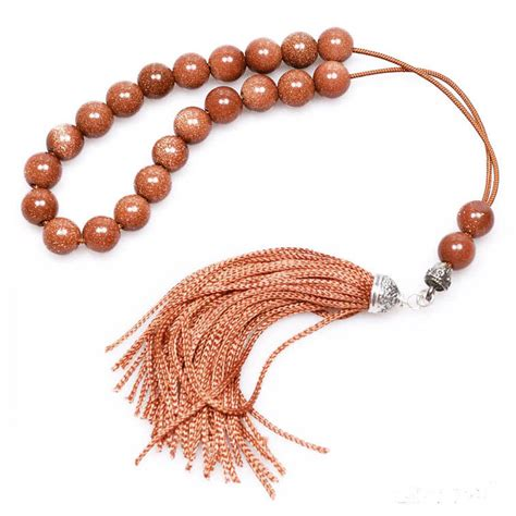 worry bead worry komboloi brown goldstone sterling