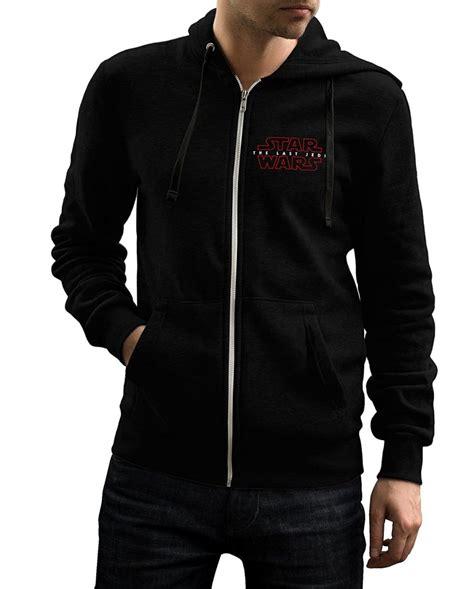 Jaket Zipper Hoodie Sweater Startrek Hitam the last jedi hoodie zip up from wars