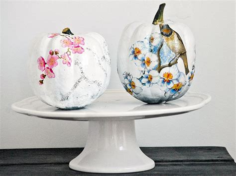 Crafts Decoupage - funky decoupage pumpkin hgtv