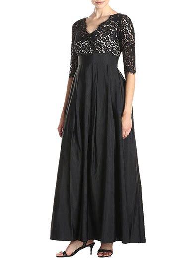 Sale Sandal Pesta Fladeo M 1 plus size black length evening gown lace empire waist