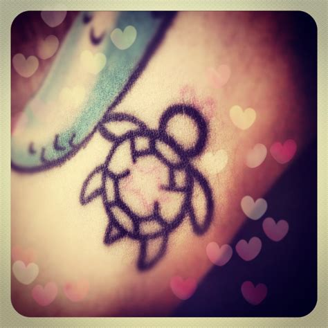 small cute simple tattoos my favorite my turtle tattoos