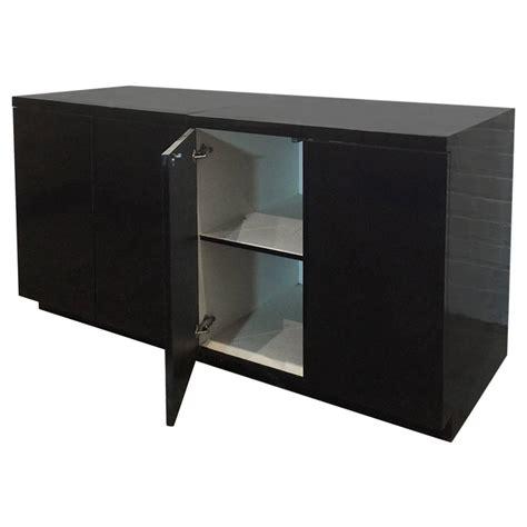 Black Cabinets For Sale Two Sleek Black Formica Storage Cabinets For Sale At 1stdibs