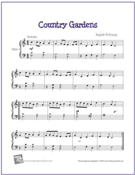 Country Gardens Song by Country Gardens Free Easy Harp Sheet