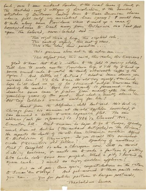 Letter Lovecraft H P Lovecraft And His Legacy Hpl Letter To Samuel Loveman