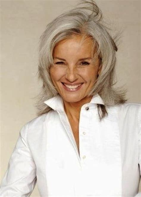 medium haircuts for gray hair with gray hair 2015 best medium length haircuts
