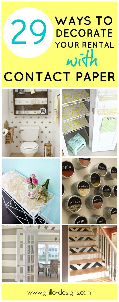 29 ways to decorate your rental with contact paper 24 things i didn t know you could paint grillo designs