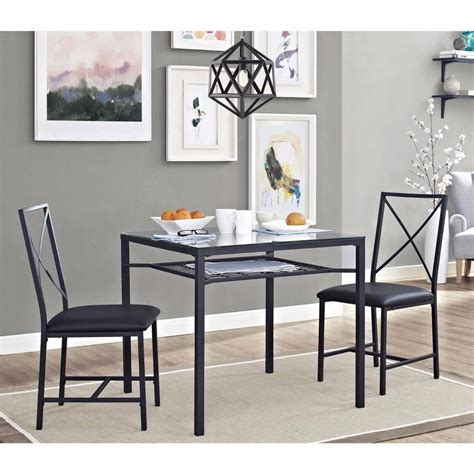 Dining Table With Two Chairs Dining Table Set For 2 Chairs 3 Kitchen Room Furniture Dinette And New Ebay