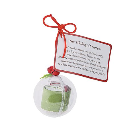 wishing ornament christmas craft kit oriental trading