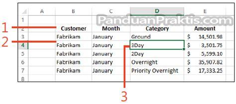 membuat header tabel di excel cara membuat tabel di excel 2013