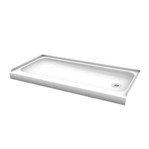 60 Shower Base by Bootz Industries Showercast 60 In X 30 In Right Drain