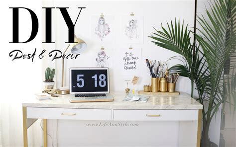 desk decorations 5 easy diy desk decor organization ikea hacks le